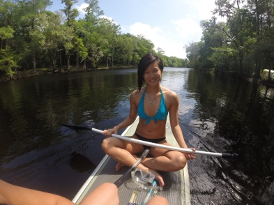 Taking my paddleboard out to explore flora, turtles and fish.